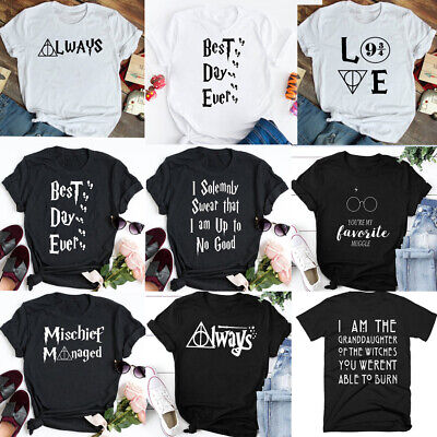 Harry Potter Mischief Managed T-shirt Best Day Ever Tee Unisex Tops Tumblr