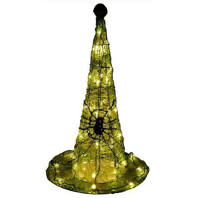 it Spinne 59 cm hoch 50 LED Deko Fenster Garten außen Hexe (Halloween Spinne Hut)