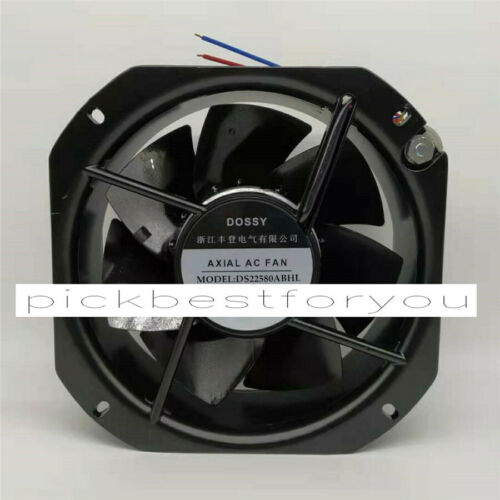 1PC DOSSY DS22580ABHL 220VAC 100W 225*225*80MM Fan 90 warranty #M326D QL