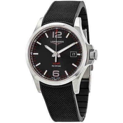 Longines Conquest V.H.P. Perpetual Quartz Black Dial Men's Watch L37264569