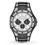 Bulova Crystal Collection Men's 98C102 Quartz Black 43.5mm Bracelet Watch