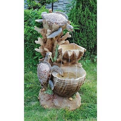 SS1646 -Turtle Cove Cascading Sculptural Fountain - Garden, Yard
