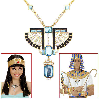 STRASS KETTE AMULETT #  Pharao Medaillon Cleopatra - Cleopatra Schmuck Kostüm