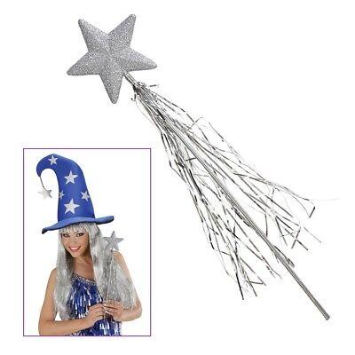 FEENSTAB SILBER KINDER Party Karneval Prinzessin Zauberin Kostüm Zubehör   9829