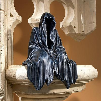 Death is Upon US Grim Reaper Hooded Figurine Shelf Sculpture Statue NEW
