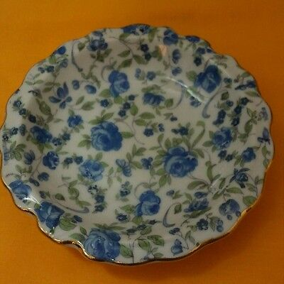 Vintage- Royal Chintz Arnart 5th. Ave, Blue Flower Bowl  Pattern #2179
