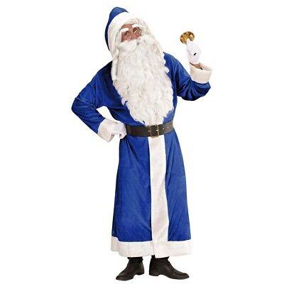 BLAUES WEIHNACHTSMANN KOSTÜM # Weihnachten Nikolaus Santa Claus Mantel XL - Santa Mantel Kostüm