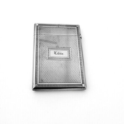 Calling Card Case Engine Turned Coin Silver Gorham Silversmiths 1865