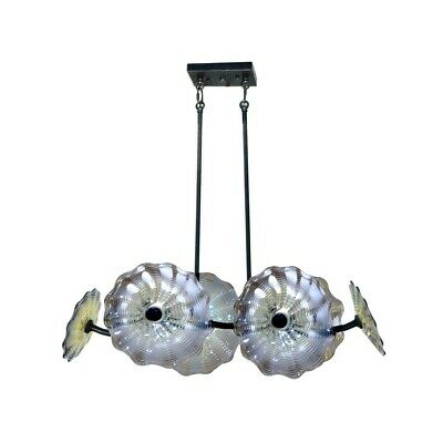 Dale Tiffany 6-Light Impasto Island Fixture, Dark Bronze - AH14345 Dale Tiffany 6 Light Chandelier
