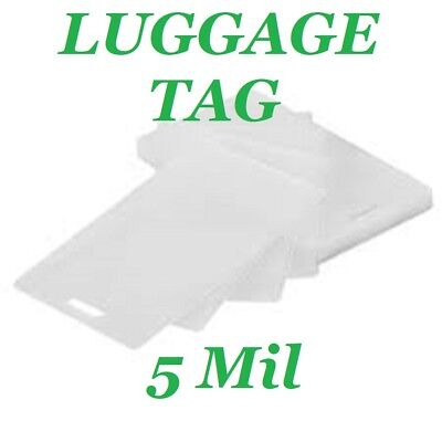 100 Luggage Tag 5 Mil Laminating Pouches Laminator Sheets With Slot 2.5 X 4.25