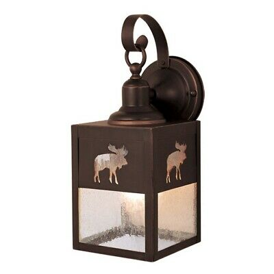 Moose Outdoor Wall - Vaxcel Yellowstone 5' Outdoor Wall Light BBZ (Moose) - OW24963BBZ