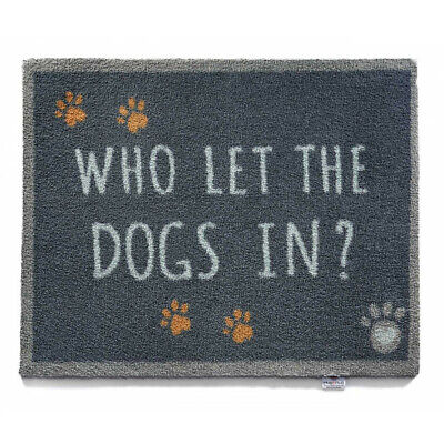 HUG RUG Who Let The Dogs In Highly Absorbent Indoor Barrier Mat 65x85