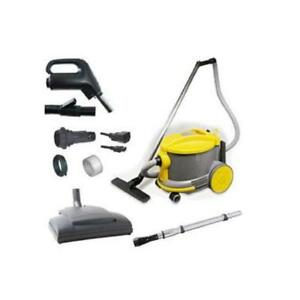 JohhnyVac / Ghibli / ShopVac Style Canister Vacuum AS6 with Power Nozzle & Switched Hose