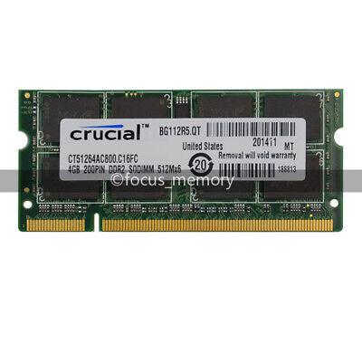 200-pin Ddr2 Sodimm-speicher (New Crucial 4GB DDR2 PC2-6400 800MHZ 200pin Laptop Memory Sodimm Speicher Ram)