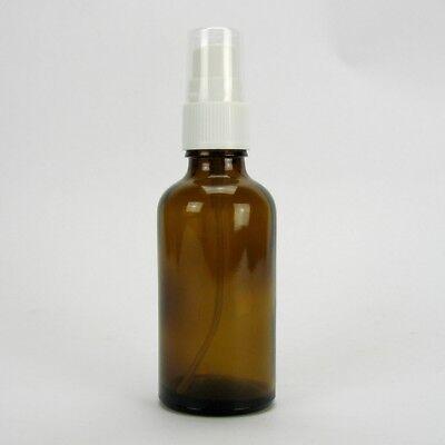 3x Sala Braunglasflasche Apothekerflasche Pumpzerstäuber Sprühpumpe 50 ml
