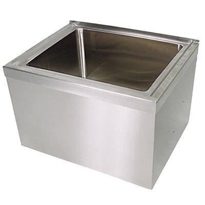 Bk Resources 24 X 24 X 12 Stainless Steel Floor Mount Mop Sink Kit