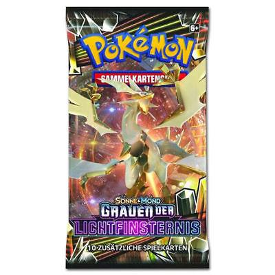1 Pokemon Booster Pack *S&M 6 Grauen der Lichtfinsternis* in deutsch  NEU & OVP