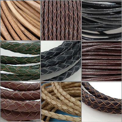 Genuine Round Leather Cord for DIY Jewelry Necklace Bracelet Making String