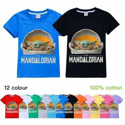 Baby Yoda the Mandalorian Kids Boys Girls Short Sleeve T-shirts Top 2-14 Years
