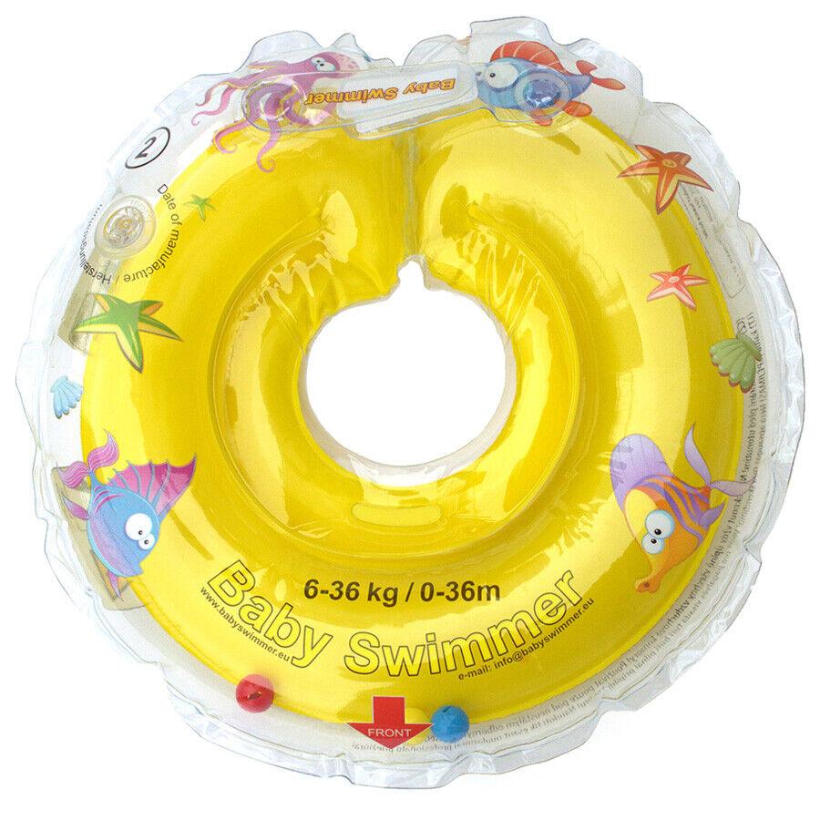 BabySwimmer Halsschwimmring Badekragen 6-36 kg Gelb Babyschwimmring