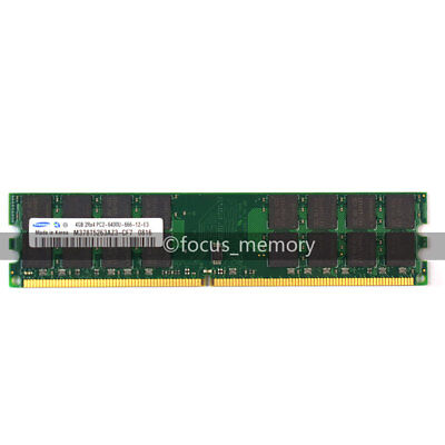 New Samsung 4GB DDR2-800 MHZ PC2-6400 240PIN DIMM Desktop memory AMD Motherboard