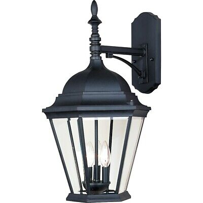 Maxim Westlake Cast 3-Light Outdoor Wall Lantern Black - 1008BK