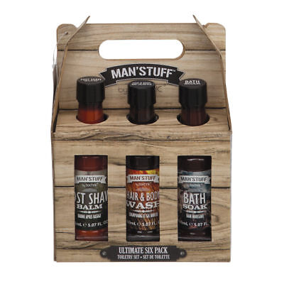 MAN'STUFF by TECHNIC ULTIMATE SIX PACK Toiletry Set great Father's Day gift (Father's Day Stuff)
