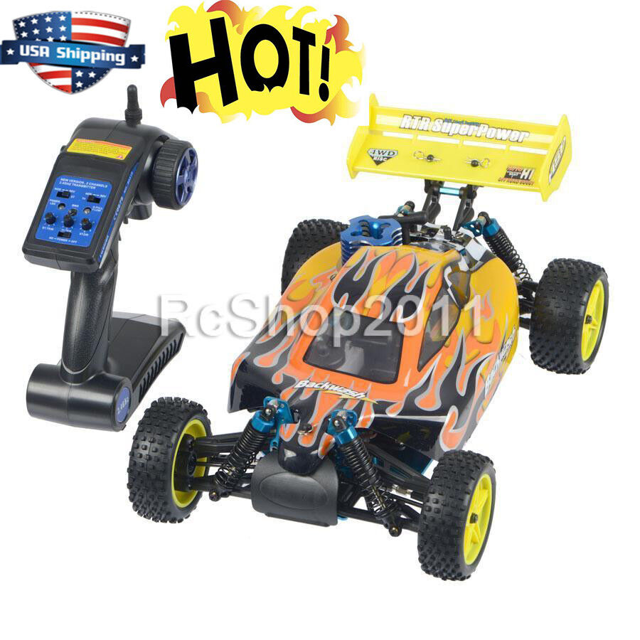 HSP 1/10 94166 Remote Control RC Car Off-road Buggy Backwach Nitro Gas Powered 4