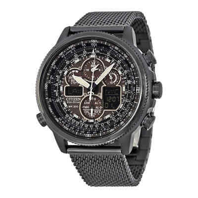 Citizen Men's Eco-Drive Navihawk At Gray Ion-Plated Stainles