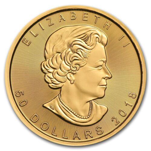 2018 Canada 1 oz Gold Maple Leaf Coin Brilliant Uncirculated BU
