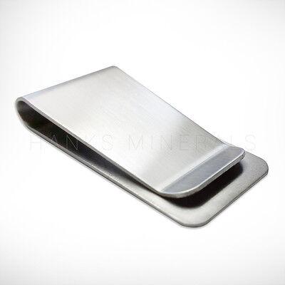 Stainless Steel Money Clip Silver Metal Pocket Holder Wallet Credit Card USA