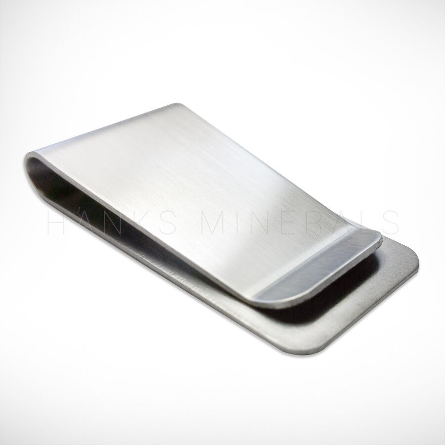 Stainless Steel Money Clip Silver Metal Pocket Holder Wallet