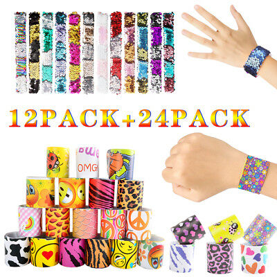 36 Pack Creative Slap Bracelet Snap Wristband Bangle Party Favors for Kids Gifts - Snap Wristbands