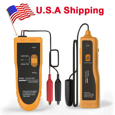 Us Ship F02 Underground Cable Wire Locator Tester With Earphone For Locate Wires