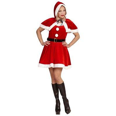 MISS SANTA CLAUS KOSTÜM Damen Weihnachtsmann Weihnachtsfrau Nikolaus Kleid (Miss Santa Claus Kostüme)