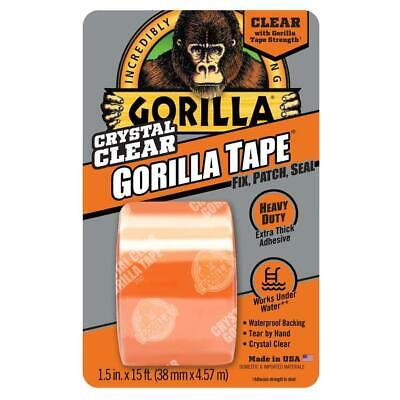 Gorilla Duct Tape Crystal Clear Repair Flexible Transparent Heavy Duty Adhesive