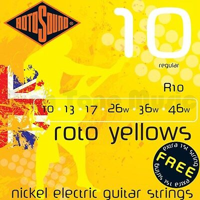 Rotosound Roto Yellow Electric Guitar Strings 10-46 Regular