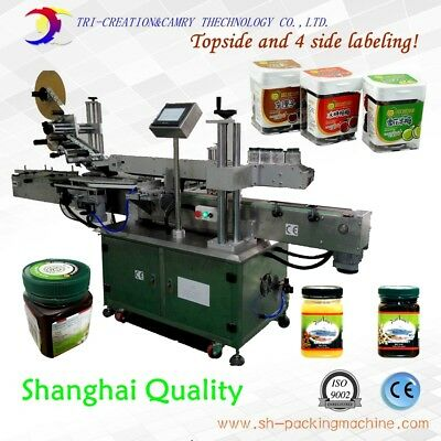Labeling Machine For Square Bottle4-side And Topside Labelingmultifunction