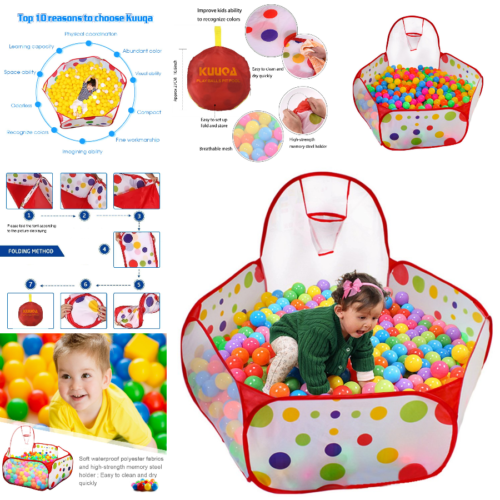 Купить KUUQA - Ball Tent Baby Toy Stages Learn Laugh Toddler Kids Boys Girls Educational Pool