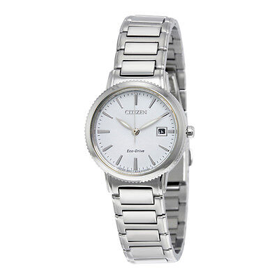 Citizen Eco-Drive Women's EW2370-57A Silhouette Collection White Dial Watch