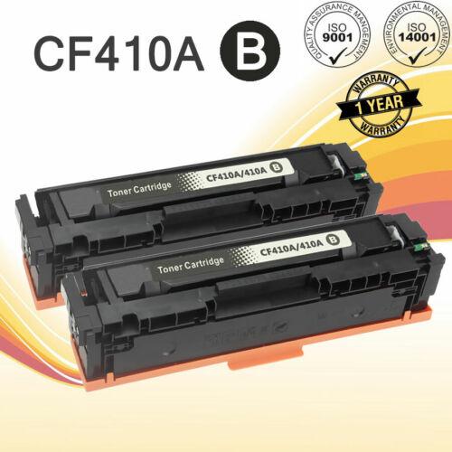 Details about 2 Pack CF410A Black Toner Cartridge For HP LaserJet Pro  M452dn M452dw M477fnw