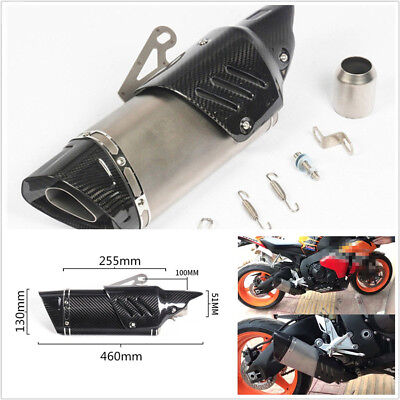 151MM REAL CARBON FIBERSTAINLESS STEEL MOTORCYCLES EXHAUST PIPE WITH