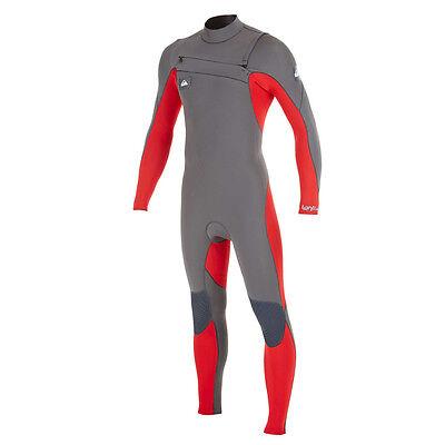 NEW Quiksilver Men's Ignite 4/3mm Full Chest Zip WetSuit Super Stretch M Medium