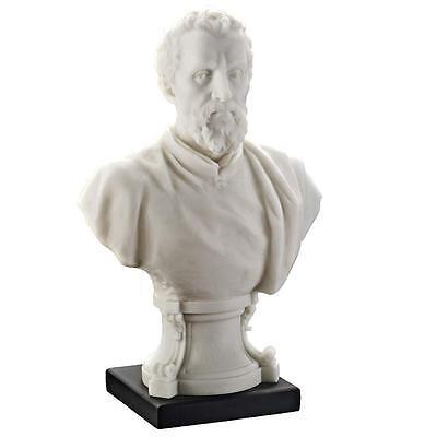 "9.5"" Michelangelo Renaissance Bust Sculpture Statue"