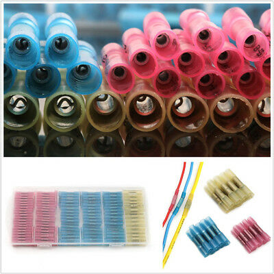 200 Pcs 3 Sizes Heat Shrink Butt Connector Electrical Wire Terminals For Car SUV