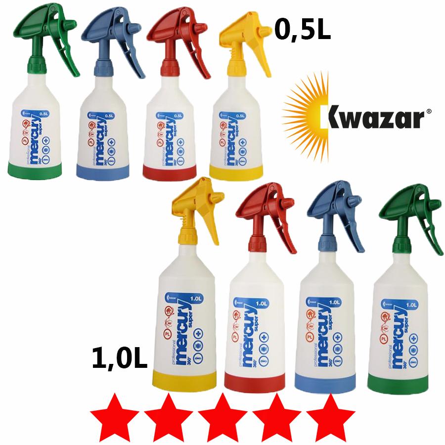 Kwazar Mercury Super PRO+ 360° Sprühflasche 0,5L & 1L Handsprüher Drucksprüher