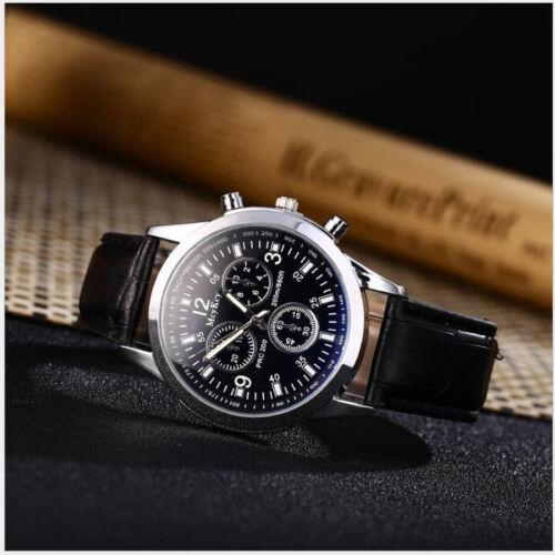 $0.78 - Luxury Date New Watch Crocodile Faux Leather Men's Fashion Military Analog Watch