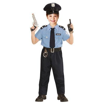 POLIZISTEN KOSTÜM & HUT KINDER Karneval Fasching Polizei Uniform Jungen # - Polizist Uniform Kostüm