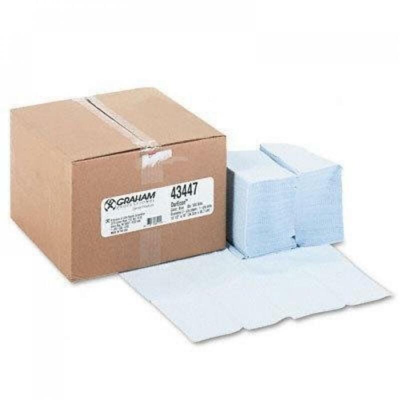 NEW! Graham Dental Bibs 2-Ply Tissue/Poly Bib, 13.5 X 18 in., Blue (Box of 500)