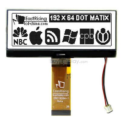 4.3 Graphic Lcd Module Display 192x64 Dotserial Spiblack On White Wtutorial